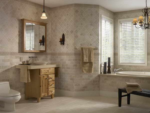 Bathroom Tile Designs Gallery Delectable Bathroom Tile Designs Gallery With Unique Hanging Lamp  Bathroom Inspiration