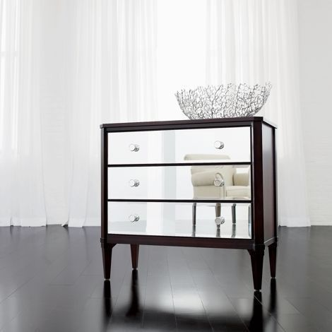Veronica Chest From Ethan Allen, Used Mirrored Tables