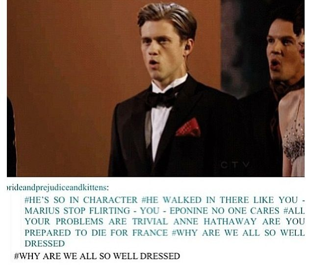 Aaron Tveit IS Enjolras This. Is. Perfection.