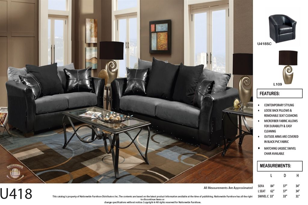 U418 Sofa Love Seat | United Furniture