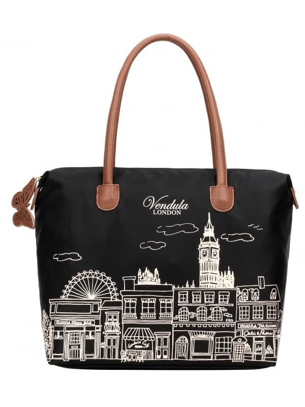 f7b34f3c61 Vendula London Skyline Nylon Tote Bag