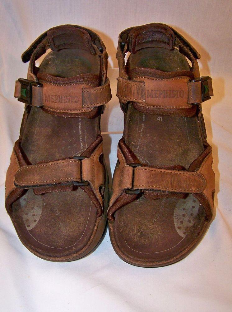c6a9e8135c3 Mephisto Brown Leather Allrounder Alligator Sandals Mens Size US 7 EU 41…