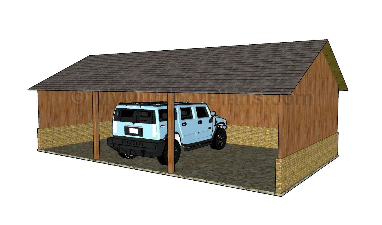 awesome car-port pl #1: Attached carport plans | MyOutdoorPlans | Free Woodworking Plans and  Projects, DIY Shed, Wooden