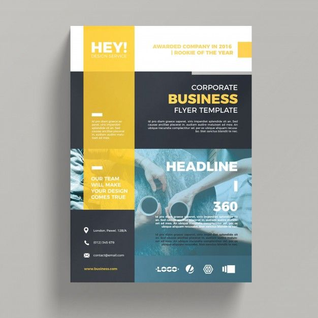 Шаблон бизнес flyer Бесплатные psd new pm pinterest business