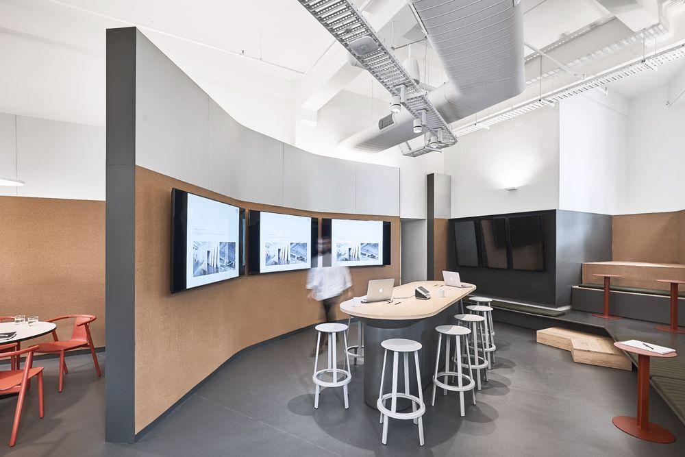 Designoffice Future Media Lab Corporate Interiors Office Floor Plan Interior Design Furniture