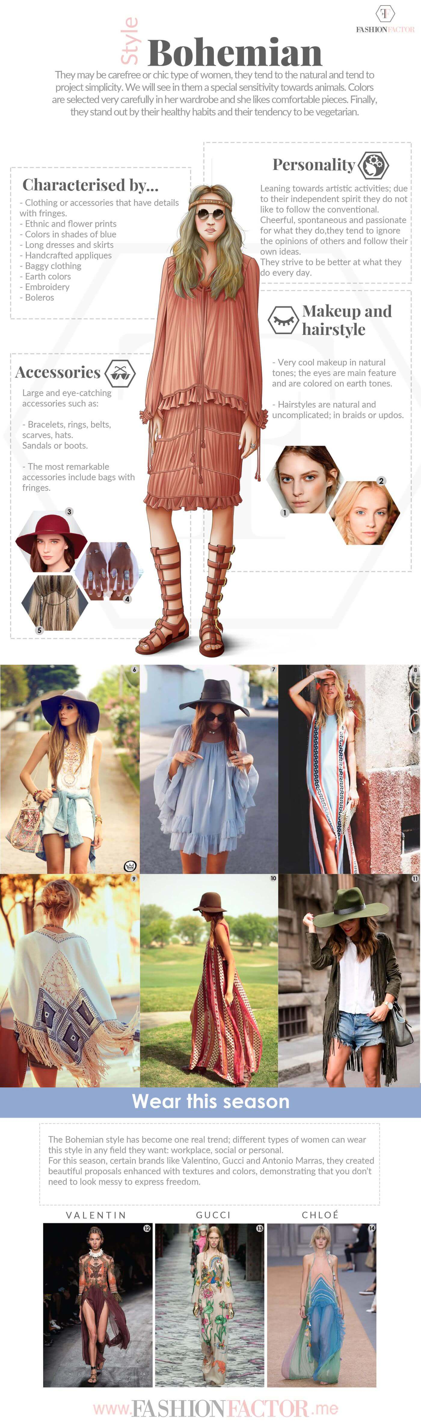 The bohemian style has become one real trend; different types of women can wear this style in any field they want.