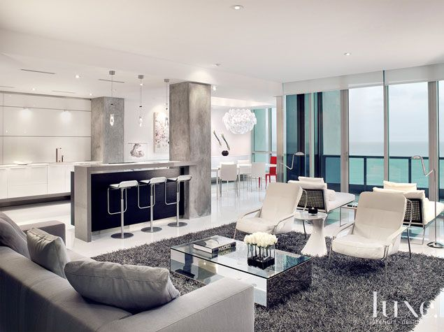 living room miami bachelor pad decor this beach apartment is a minimalist s dream luxe