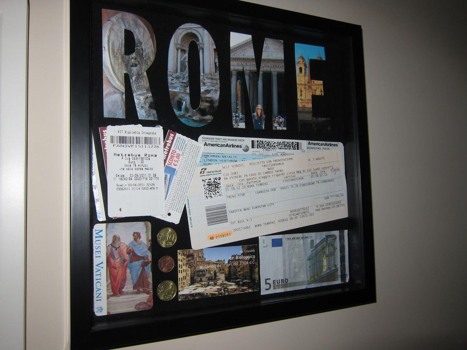 What To Do With All Those Travel Stubs Travel Shadow Boxes Shadow Box Diy Shadow Box