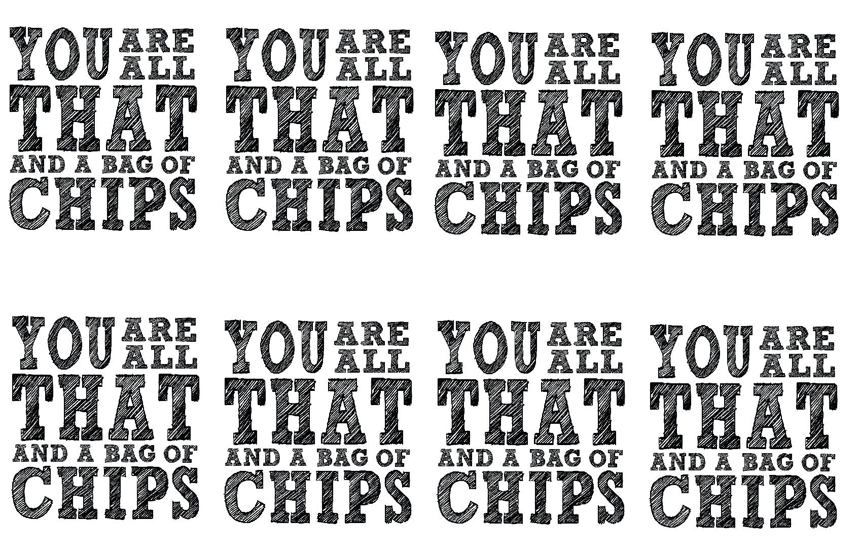 photograph about You're All That and a Bag of Chips Printable called All That and a bag of chips - Chip bag present tag. Foolish