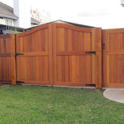 Double Gate Wood Fence Gates Fence Gate Design Wood Gate