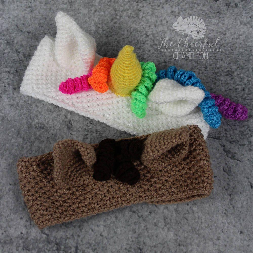 Amigurumi Horse Ears : Unicorn ear warmer crochet pattern instant download