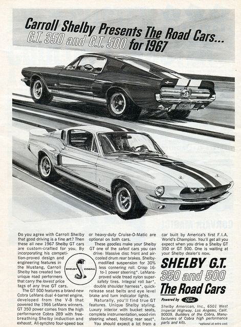 1967 Shelby Mustang Gt350 And Gt500 Mustang Classic Cars Ford