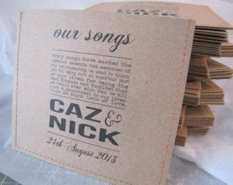 Wedding Cd Favours