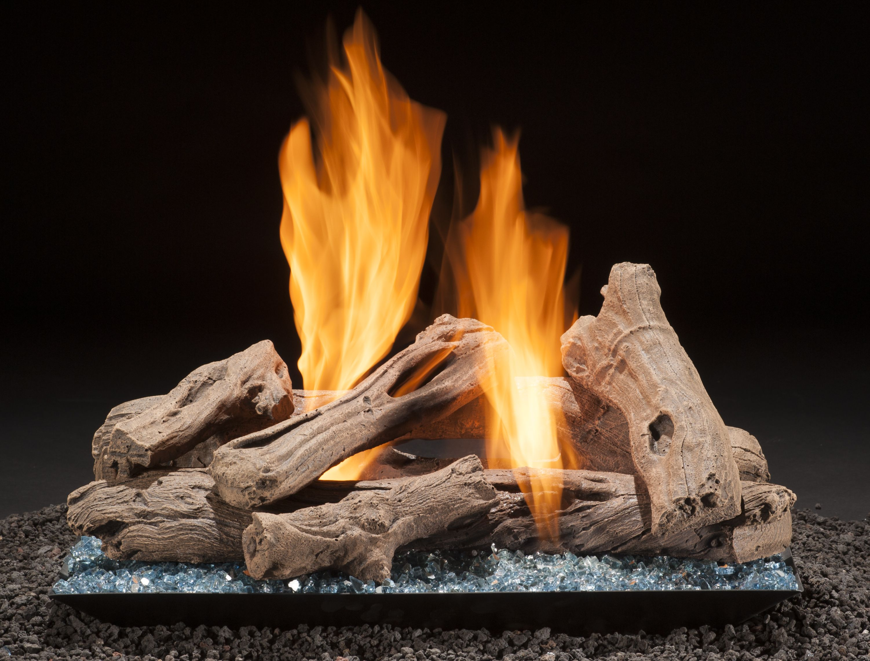 set wood look gas logs fire itm ceramic of or fireplace real fake ethanol bio