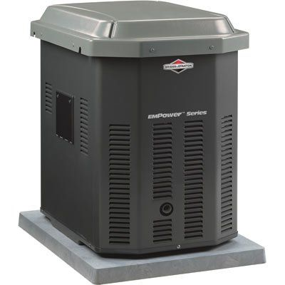 Introducing The Briggs Stratton Home Standby Generator Model 40243 The Most Compact Footprint Of A Standby Generators Generator House Whole House Generators