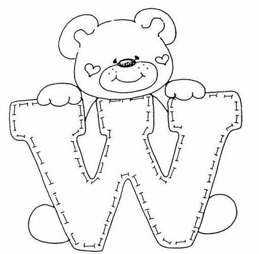 kleurplaten letter w