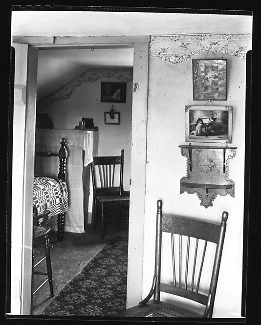 [Bedroom Interior Seen through Doorway, Near Copake, New ...
