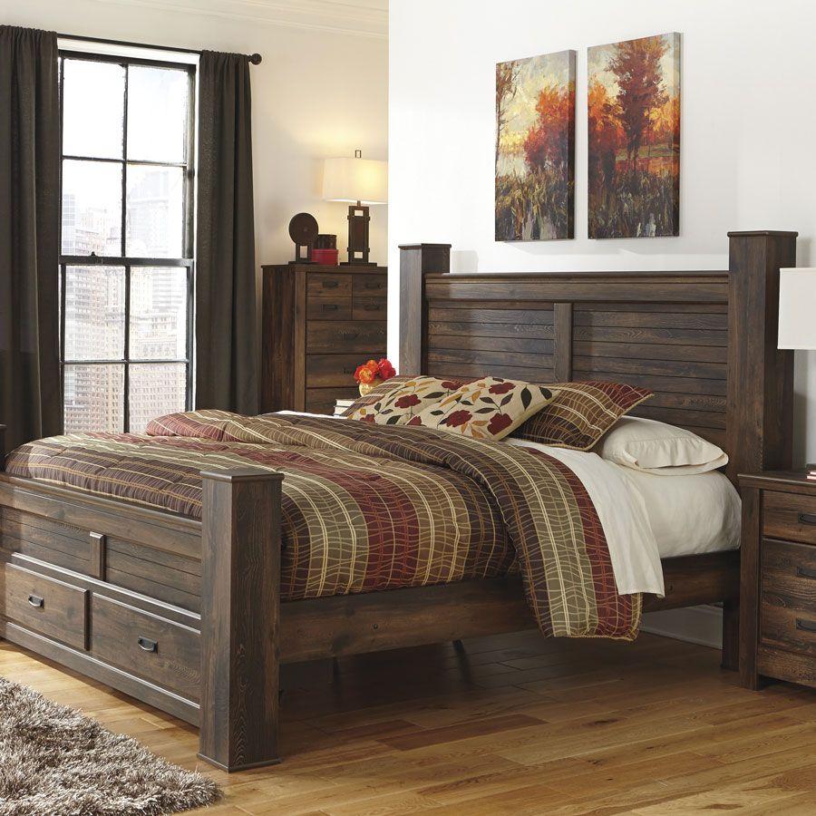 108f50bd3f7d0 Quinden   Queen Poster Bed