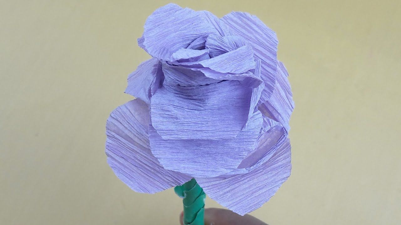 Origami Rose How To Make Easy Way Origami Flower For Beginner