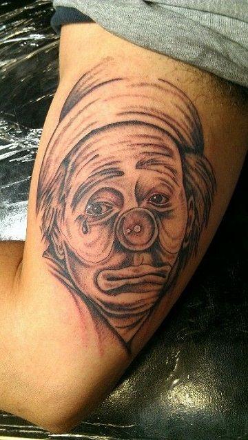 Profundos Y Simbolicos Tatuajes De Payasos Llorando Tato Mios