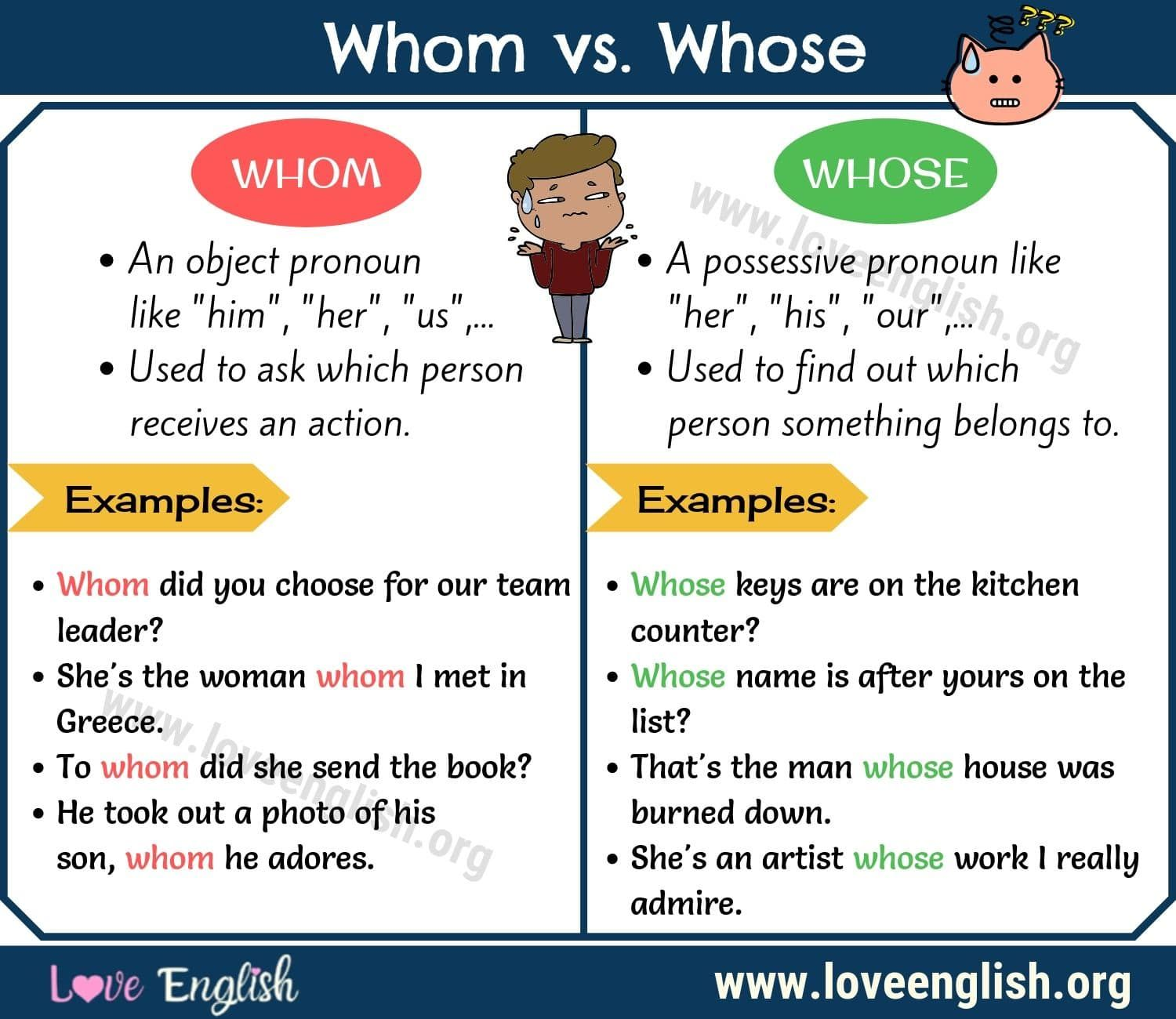 Whom Vs Whose How To Use Whom And Whose In A Sentence