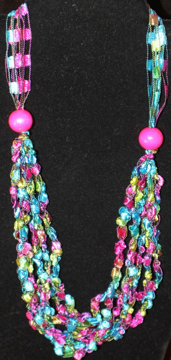 Ladder Ribbon Necklace by saphy98 on Etsy, $7.00 | Crochet Necklaces ...