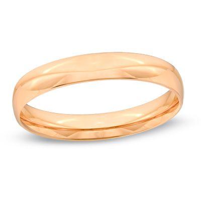 Zales Ladies 40mm Wedding Band In 10k Rose Gold Fkckp Health