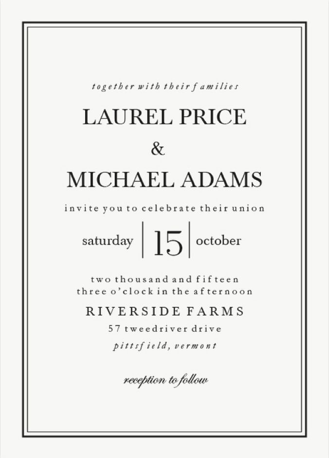 classic wedding invitations best photos | Classic weddings, Black ...