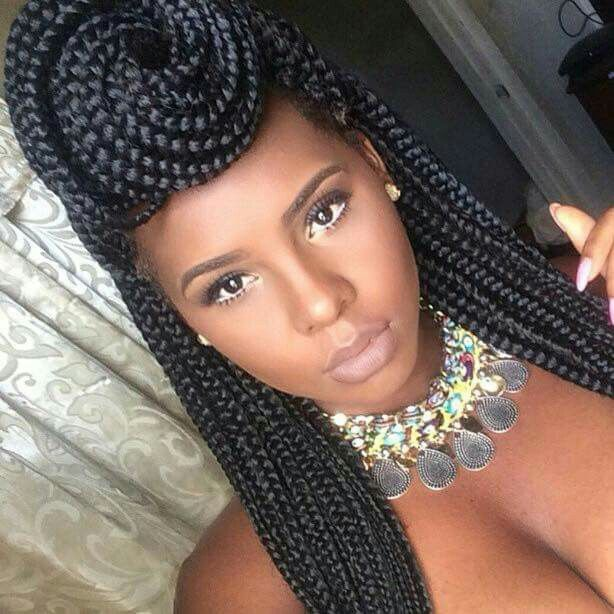 Looks like a queen hairstyles pinterest box braids styling 50 exquisite box braids hairstyles to do yourself solutioingenieria Gallery