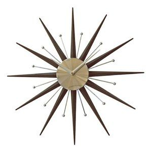Sunburst Star Spoke Wall Clock Modern Abstract Price 59