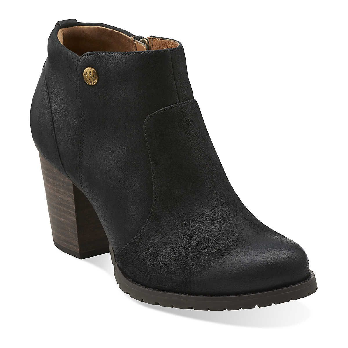 Mission Philby in Black Leather - Womens Boots from Clarks