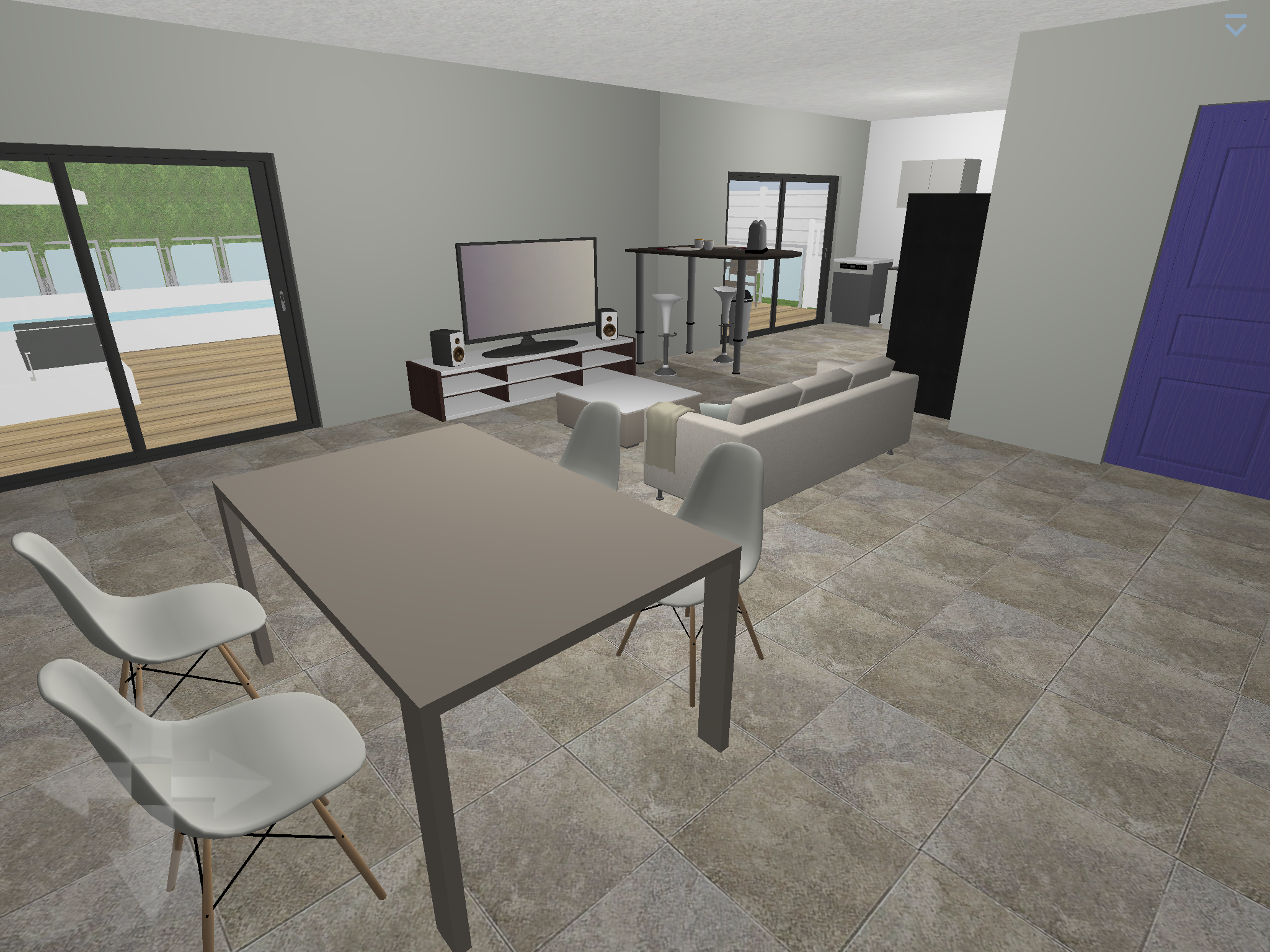 Plan 3d salon salle manger logiciel home design 3d gold architecture maison 3d - Plan 3d salon ...