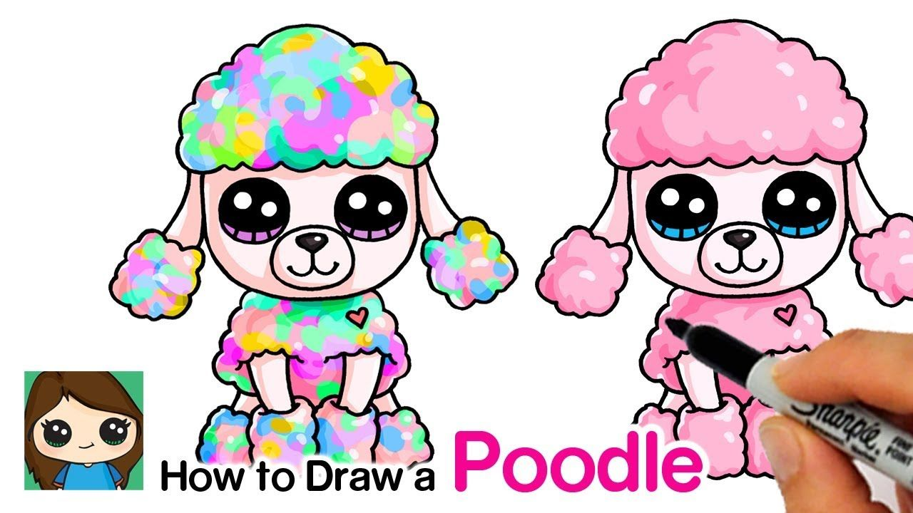 How To Draw A Poodle Easy Beanie Boo Cute Dog Drawing Poodle
