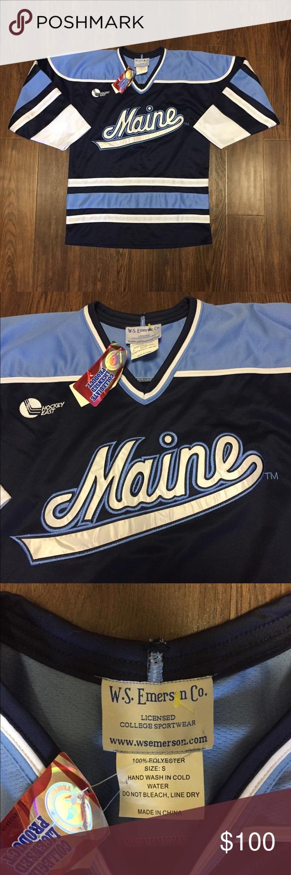 University of Maine Black Bears Hockey Jersey Brand W.S