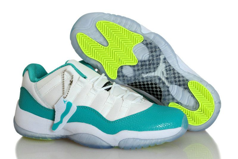 timeless design 9bc49 b6d99 Womens Jordan 11 Low TURBO GREEN White Turbo Green Volt Ice Black Snake  580521 143