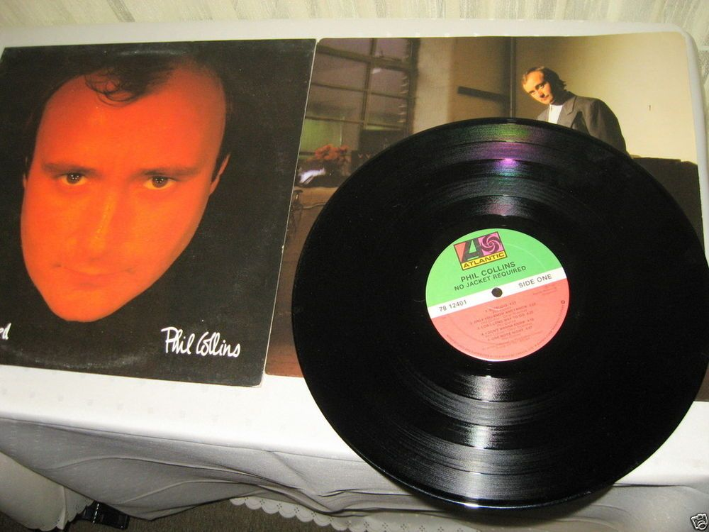 Phil Collins - No Jacket Required CANADA 1985 Lp vg++ to nm