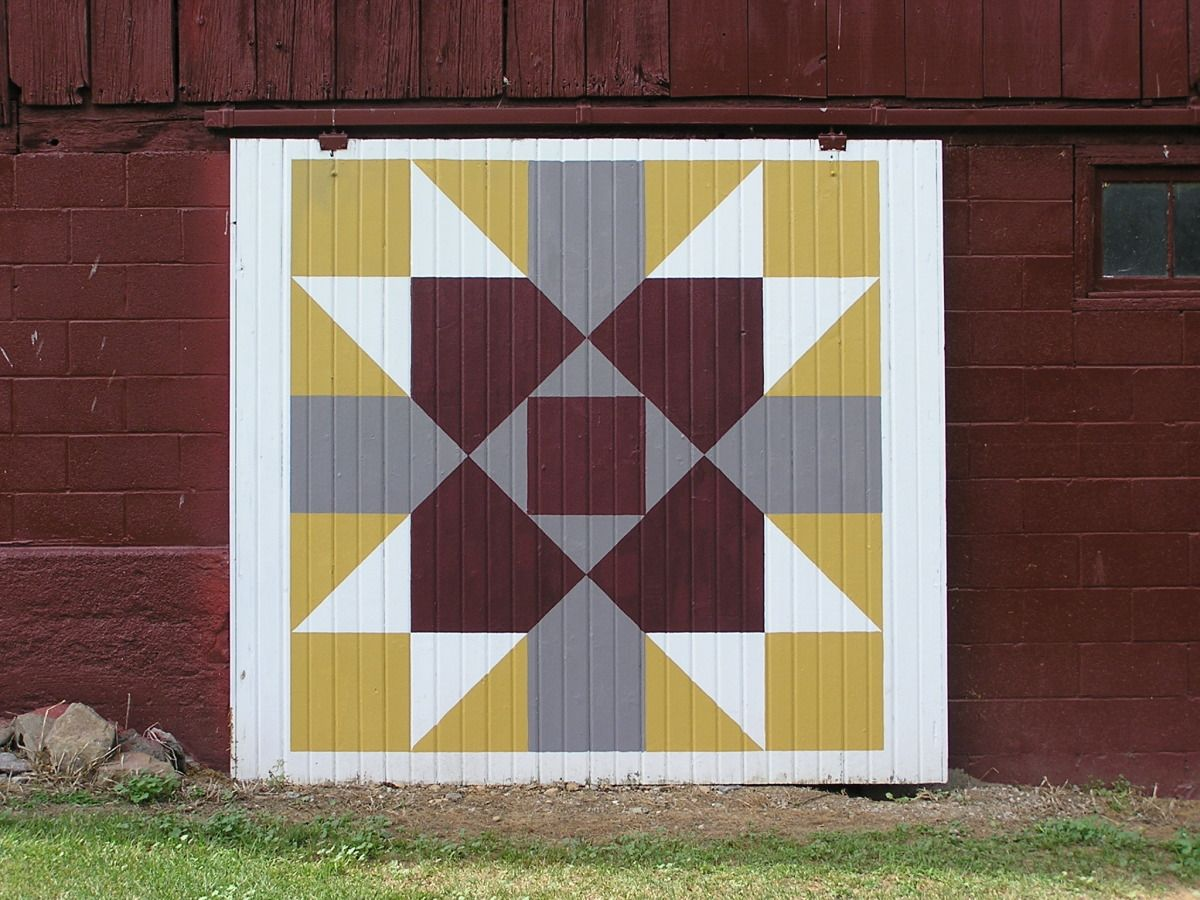Quilt barn doors painting in review the barn artist scott