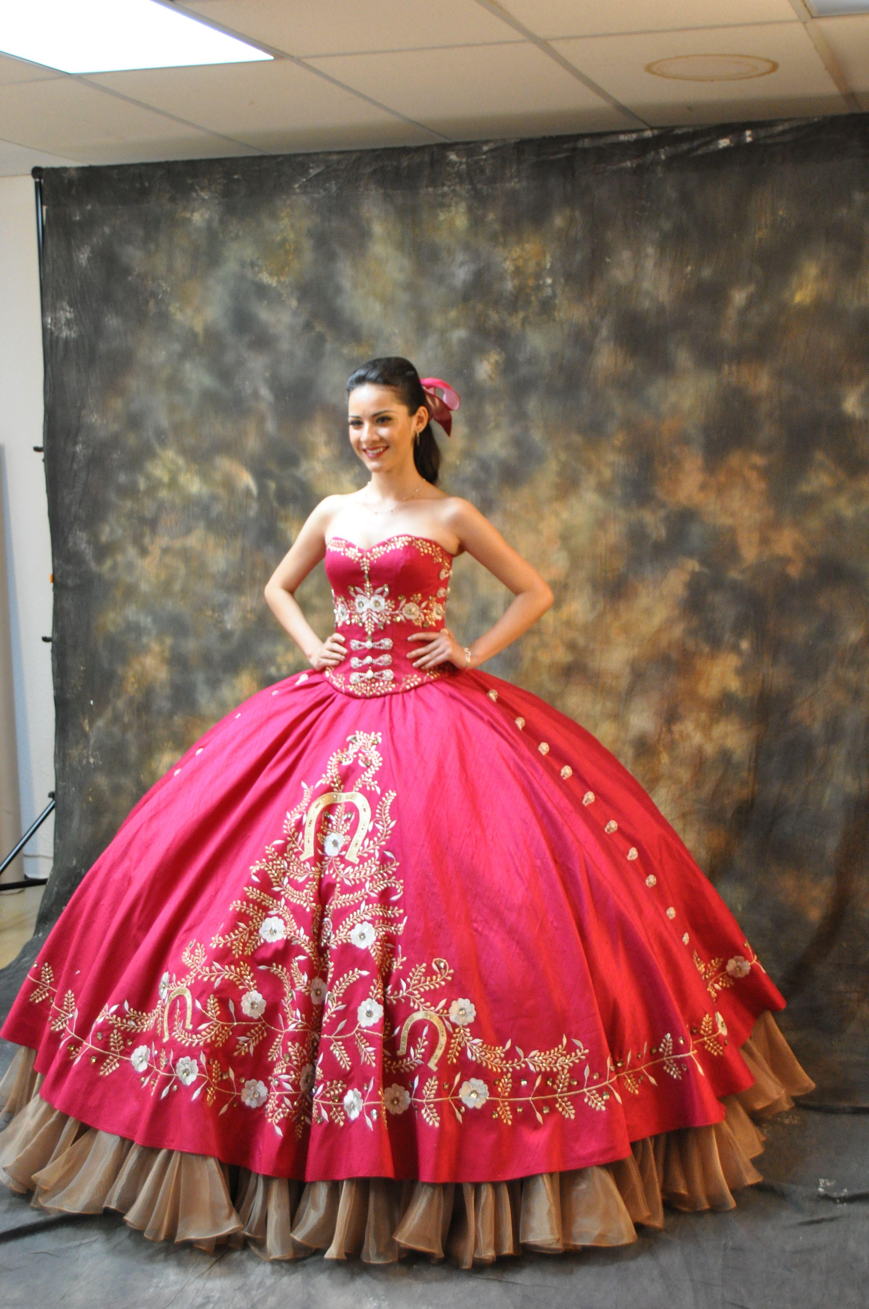 Resultado de imagen para charro 15 dresses | Quinceanera dresses ...