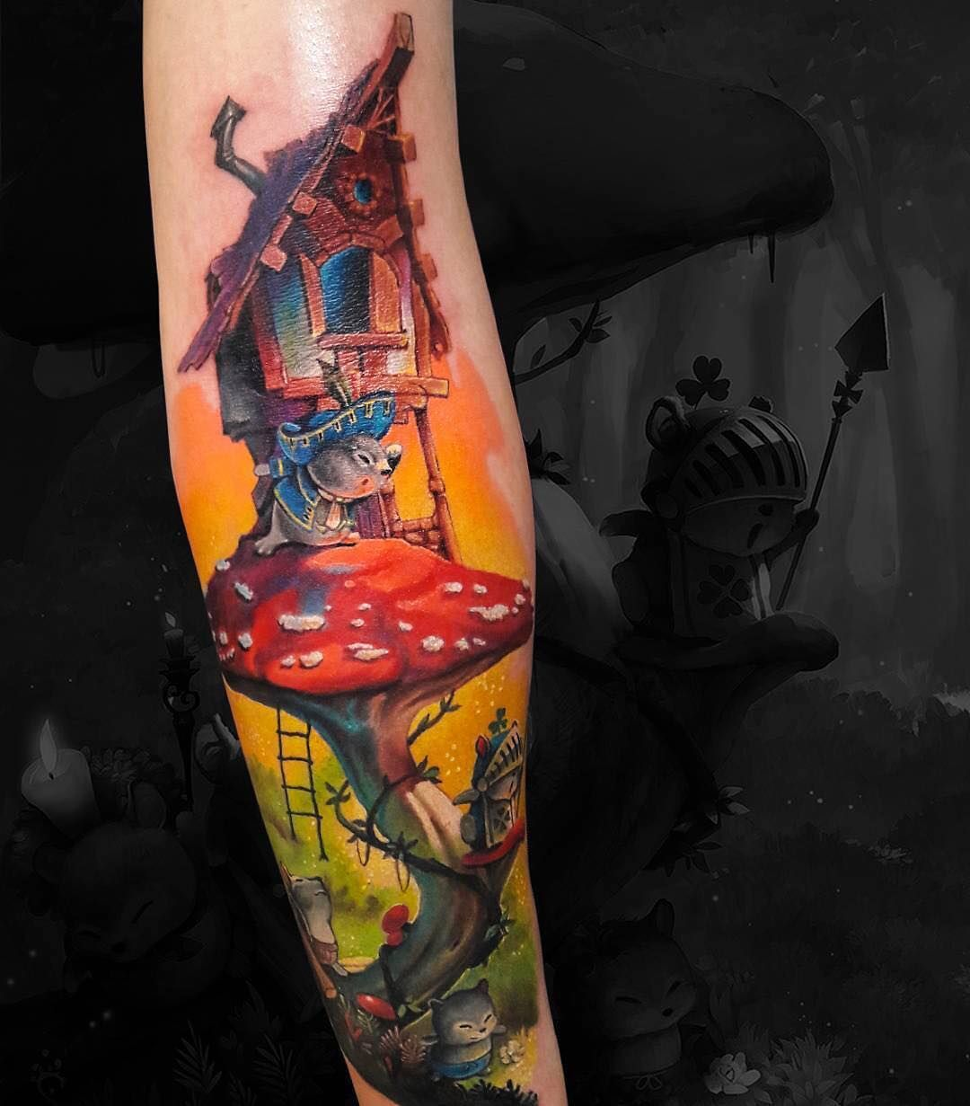 Pin By Le Joa On A Colour Sketch Tattoo Artists Tattoo