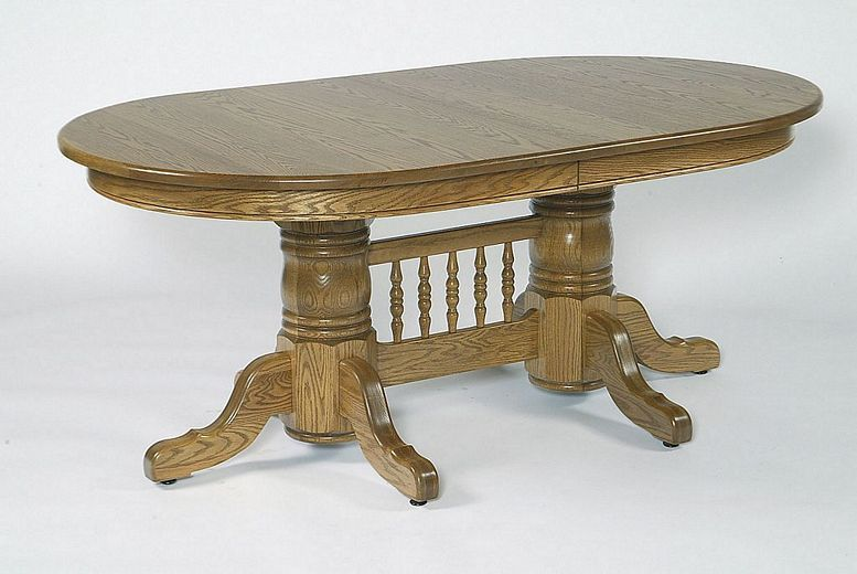 Amish 72 Double Pedestal Oval Dining Table With Center Double Pedestal Dining Table Dining Table Oval Table Dining