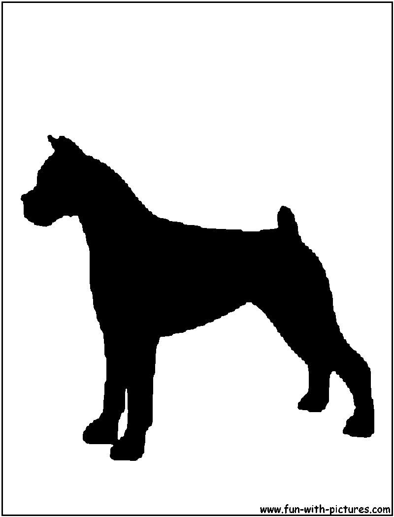 Boxer Silhouette | Just Luv Dogs | Pinterest
