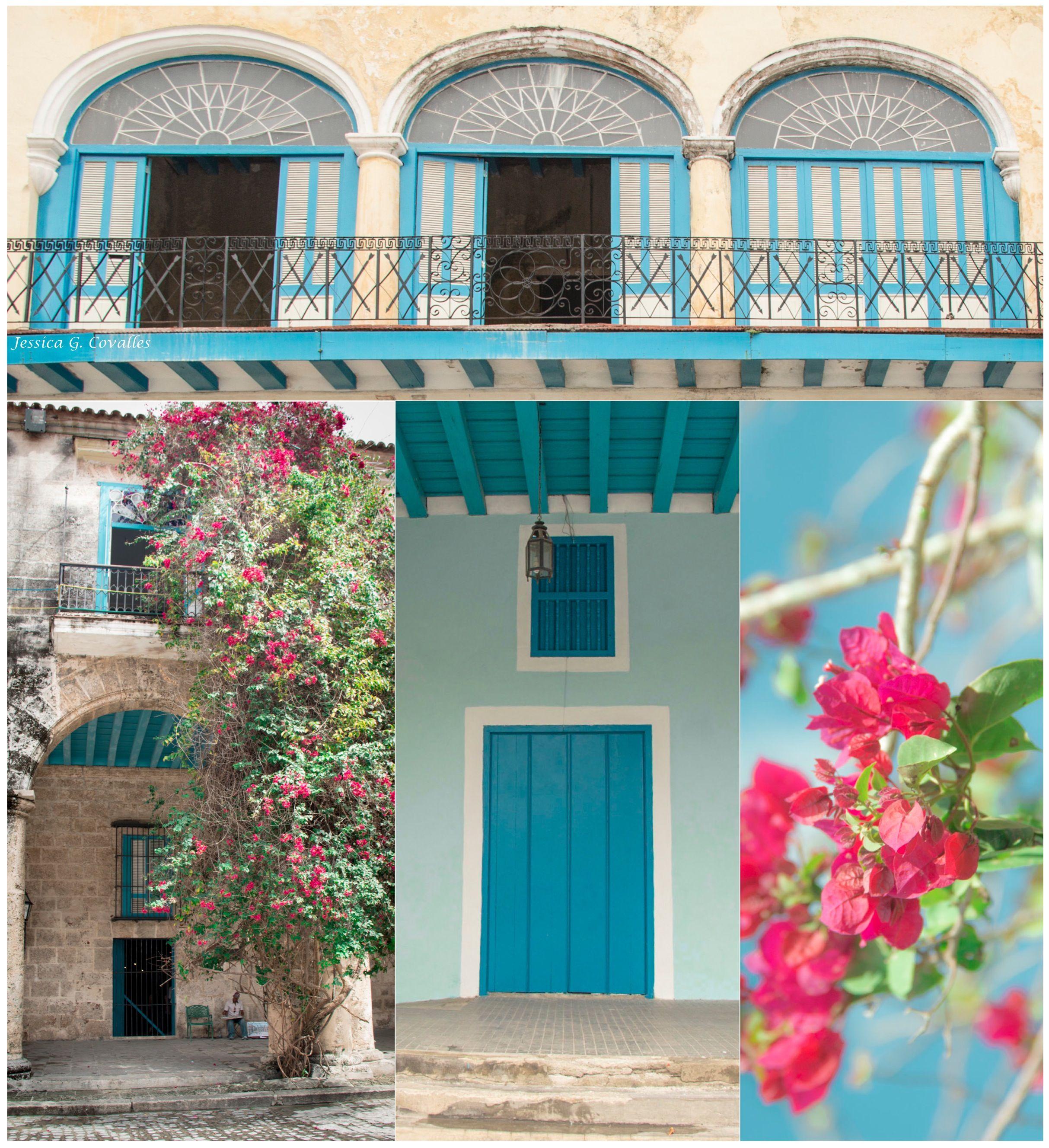Old Havana. Colonial - Blue.  La Habana vieja, Colonial - Azul. Photography by: Jessica G. Covalles