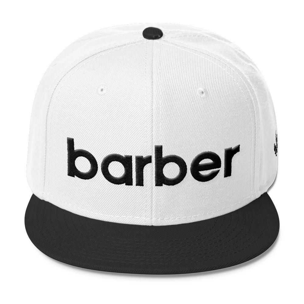 Classic Barber Sports Logo Wool Blend Snapback Black Logo Barber Barber Accessories Outfits With Hats