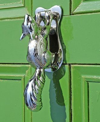 Squirrel Chrome Door Knockers : Black Country Metalworks Ltd
