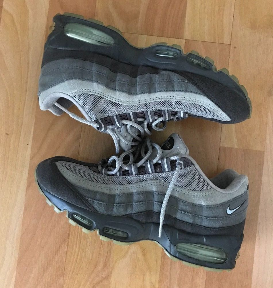 Vintage 90s NikeAir Max 95 Blue Grey Suede Women's Size 9