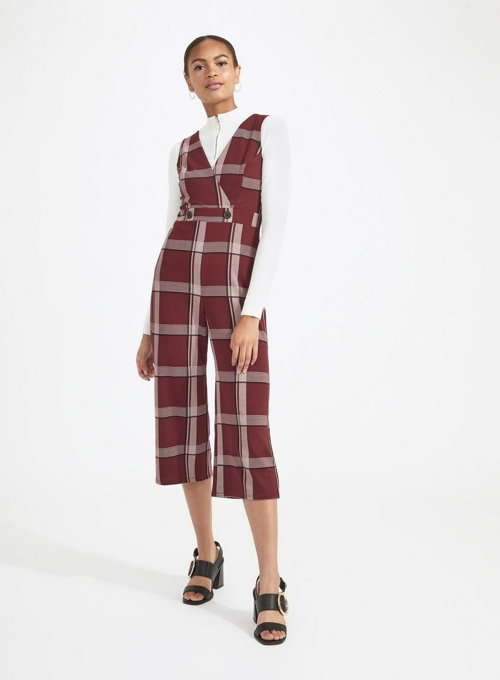 c6c6a3aa3 Burgundy Checked Jumpsuit | What to Wear Now ! | Burgundy jumpsuit ...