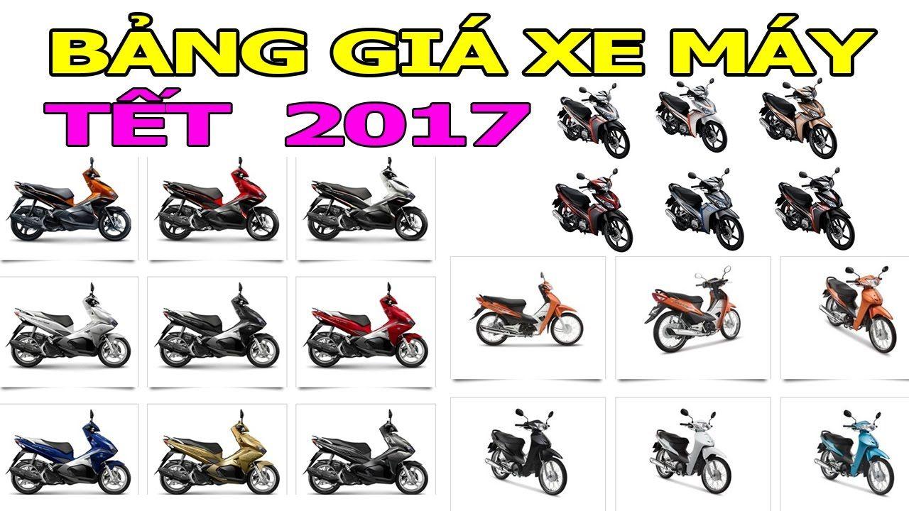 Update bảng giá xe máy dịp Tết nguyên đán 2017