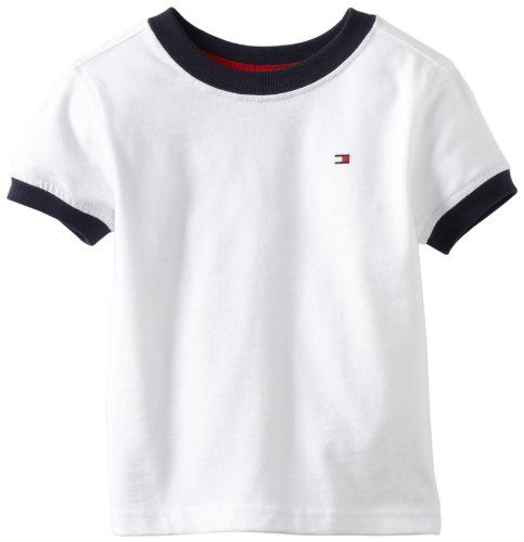 Tommy Hilfiger Little Boys' Ken Tee, Classic White, 2T/Regular