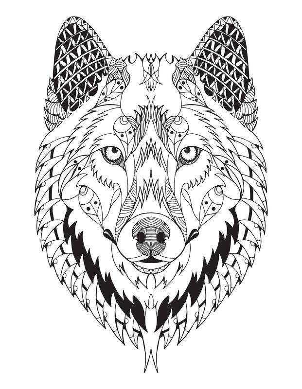 Wolf Mandala Mandala Wolf Wolf Images Mandala Coloring