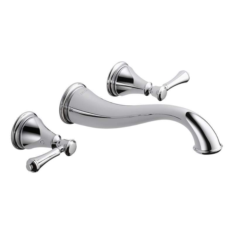 Delta T3597LF-WL Cassidy Wall Mounted Bathroom Faucet - Less Rough ...